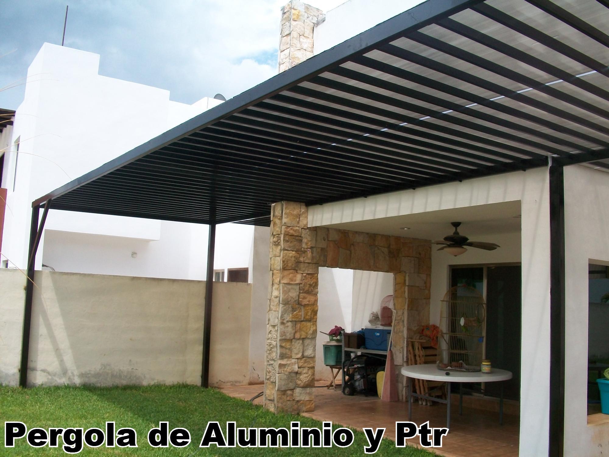 30 model pergolas metalicas con policarbonato - Techos de aluminio para terrazas ...